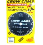 CROWCAMS CAMSHAFT DEGREE WHEEL