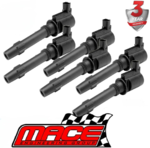 MACE SET OF 6 STANDARD REPLACEMENT IGNITION COILS FOR FORD FAIRMONT BA BF BARRA 182 190 E-GAS 4.0 I6
