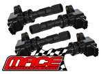 SET OF 4 MACE STANDARD IGNITION COILS TO SUIT MAZDA L3 L5 LFDE DOHC TURBO 2.0L 2.3L 2.5L I4