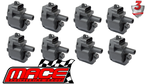 SET OF 8 STANDARD REPLACEMENT IGNITION COILS TO SUIT HOLDEN COMMODORE VT VX VY VZ LS1 5.7L V8