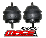 PAIR OF MACE STANDARD ENGINE MOUNTS TO SUIT FORD FALCON BA BF BARRA 240T 245T TURBO 4.0L I6
