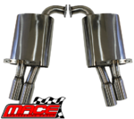 "MACE DUAL REAR 3"" SPORTS MUFFLER TO SUIT HSV W427 VE V8 SEDAN"