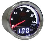 SAAS 2 IN 1 ANALOGUE BOOST 0-30PSI AND DIGITAL OIL PRESSURE 0-140PSI 52MM GAUGE