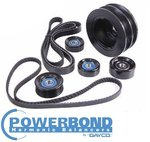 POWERBOND 25% UNDERDRIVE POWER PULLEY KIT TO SUIT HOLDEN LS1 L76 5.7L 6.0L V8