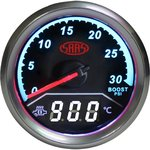 SAAS 2 IN 1 ANALOGUE BOOST 0-30PSI AND DIGITAL EXHAUST TEMPERATURE 0-900 DEGREE 52MM GAUGE