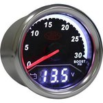 SAAS 2 IN 1 ANALOGUE BOOST 0-30PSI AND DIGITAL VOLT 8V-18V 52MM GAUGE