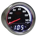 SAAS 2 IN 1 ANALOGUE BOOST 0-140PSI AND DIGITAL WATER TEMPERATURE 40-120 DEGREE 52MM GAUGE