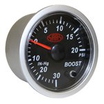SAAS BLACK STREET SERIES PETROL TURBO BOOST 30INHG-20PSI 52MM GAUGE