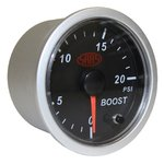 SAAS BLACK STREET SERIES DIESEL BOOST 0-20PSI 52MM GAUGE