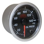 SAAS BLACK STREET SERIES OIL PRESSURE 0-140PSI 52MM GAUGE