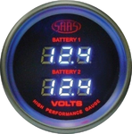 SAAS DUAL DIGITAL VOLT 8V-18V 52MM GAUGE