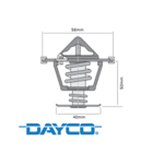 DAYCO 86 DEGREE THERMOSTAT TO SUIT HSV GTS VE.II & III VF LS3 LSA S/C 6.2L V8 09/2009 ONWARDS