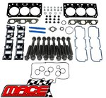 MACE VALVE REGRIND GASKET SET AND HEAD BOLTS COMBO PACK TO SUIT HOLDEN ECOTEC L36 3.8L V6