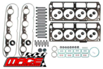 MACE MLS VALVE REGRIND GASKET SET AND HEAD BOLTS COMBO PACK FOR HOLDEN L76 L77 L98 LS3 6.0L 6.2L V8