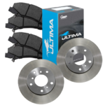 ULTIMA DISC BRAKE PADS AND ROTORS COMBO PACK TO SUIT FORD BARRA BOSS 220 260 5.4L V8