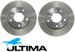 ULTIMA FRONT & REAR DISC BRAKE ROTOR SET FOR HOLDEN ECOTEC ALLOYTEC L36 LY7 LE0 L67 S/C 3.6L 3.8L V6