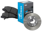 ULTIMA FRONT BRAKE PAD SET & DISC BRAKE ROTORS COMBO TO SUIT FORD BARRA BOSS 220 230 260 5.4L V8