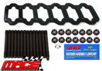 STEEL MAIN GIRDLE WITH ARP MAIN STUD KIT TO SUIT FORD BARRA 195 E-GAS ECOLPI 270T TURBO 4.0L I6