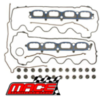 MACE VALVE REGRIND GASKET SET AND HEAD BOLTS PACK TO SUIT FORD BARRA 220 230 5.4L V8